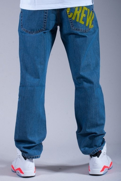 SSG SPODNIE JEANS RETRO CREW BLUE-YELLOW