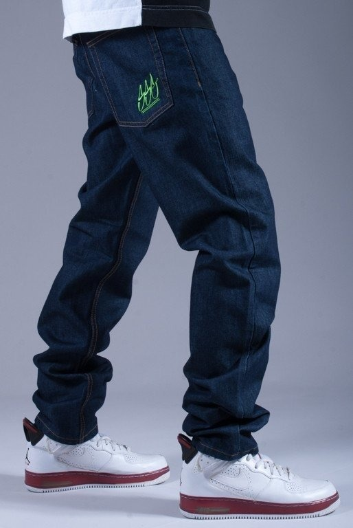 SSG SPODNIE JEANS SLIM SMALL SSG BLUE-GREEN