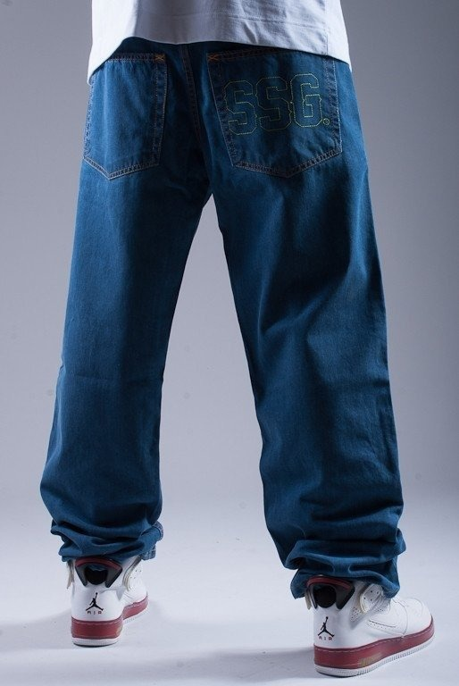 SSG SPODNIE JEANS SSG OUTLINE BLUE-GREEN