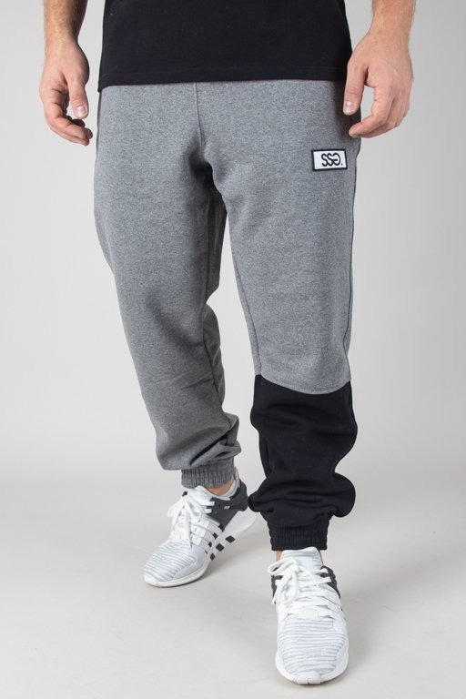 SSG SWEATPANTS JOGGER ONE SIDE BIG GREY