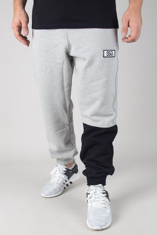 SSG SWEATPANTS JOGGER ONE SIDE BIG MELANGE