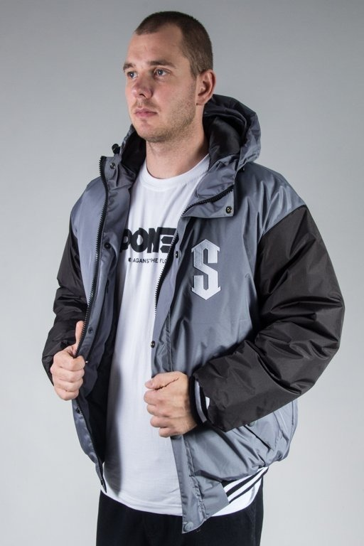 SSG WINTER JACKET FLYERS DOUBLE COLOR GREY-BLACK