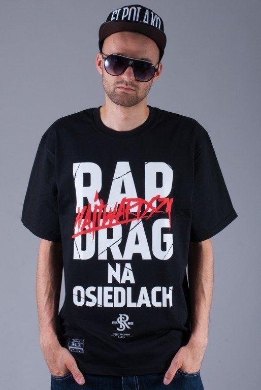 STEP RECORDS KOSZULKA DRUG BLACK
