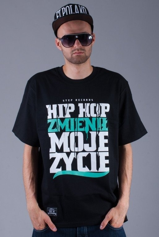 STEP RECORDS KOSZULKA HIP HOP BLACK