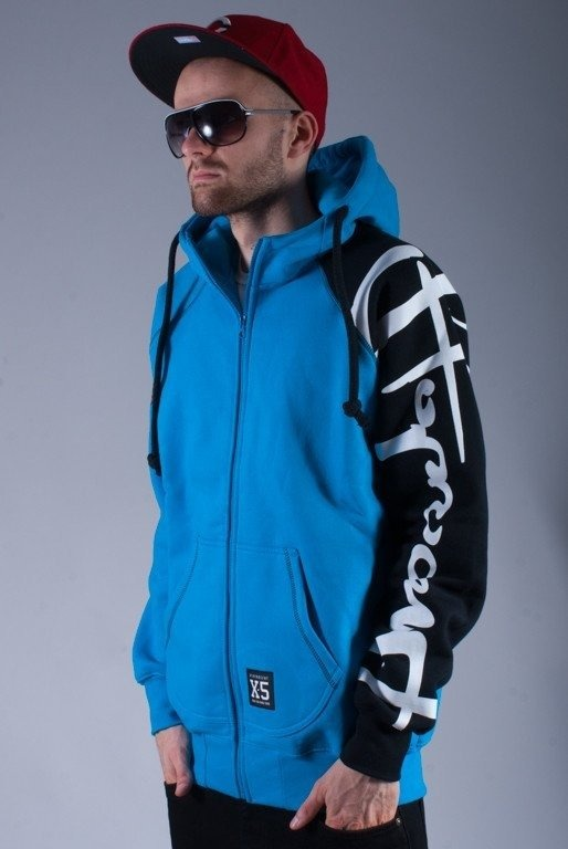 STOPROCENT BLUZA Z KAPTUREM LTD ZIP HETMAN BLUE-BLACK