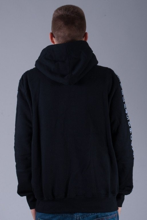 STOPROCENT BLUZA Z KAPTUREM ZIP BIG S BLACK