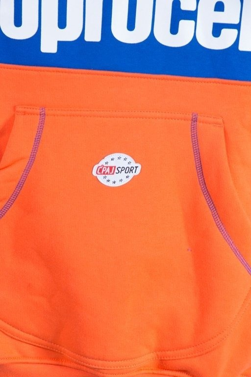 STOPROCENT BLUZA Z KAPTUREM ZIP SIMPLEFRONT ORANGE