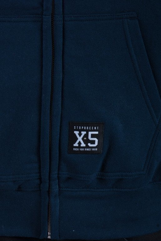 STOPROCENT BLUZA Z KAPTUREM ZIP TAG NEW NAVY