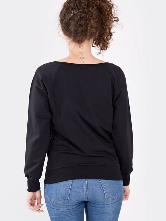STOPROCENT CREWNECK GIRL TAG BLACK
