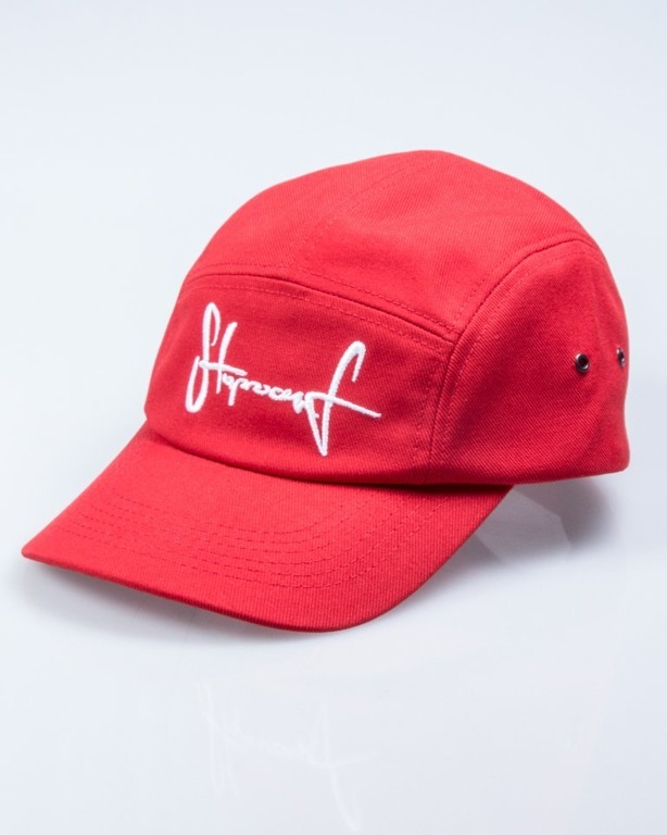 STOPROCENT CZAPKA 5PANEL TAG RED