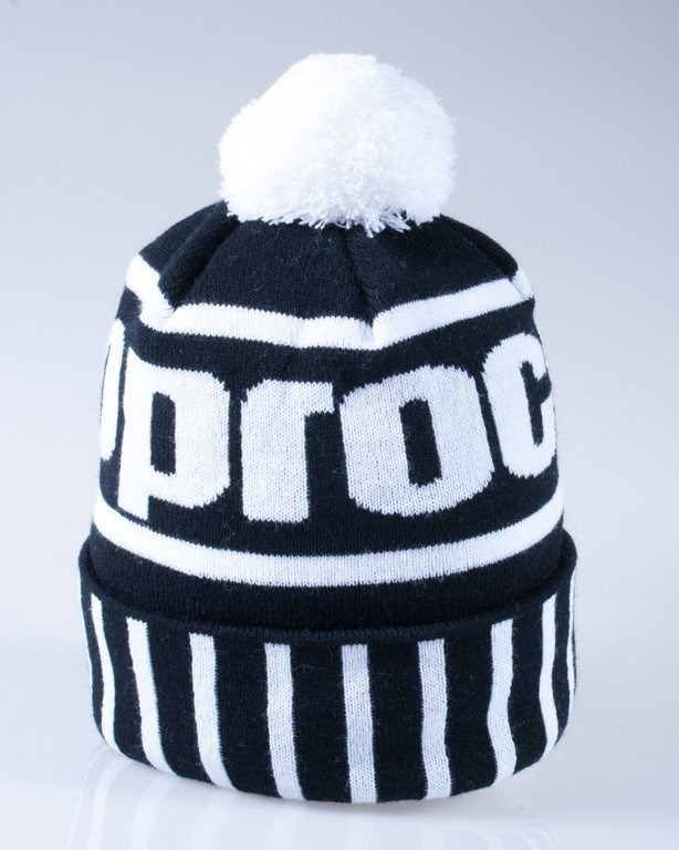 STOPROCENT CZAPKA ZIMOWA POMPON SIMPLE BLACK