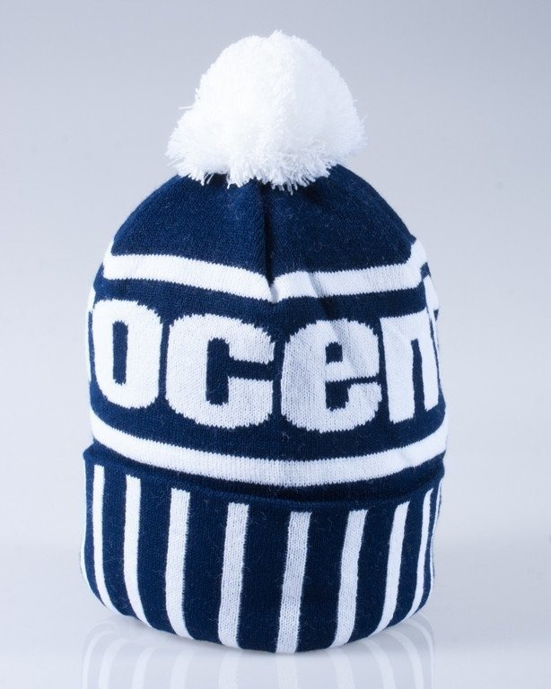 STOPROCENT CZAPKA ZIMOWA POMPON SIMPLE NAVY