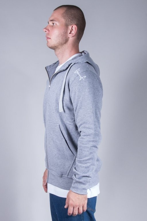 STOPROCENT HOODIE ZIP BASE GREY
