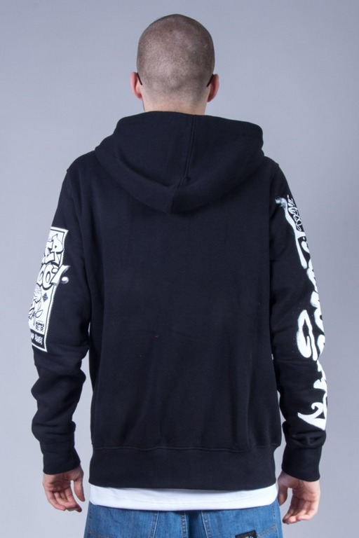 STOPROCENT HOODIE ZIP KEEPSLEVE BLACK