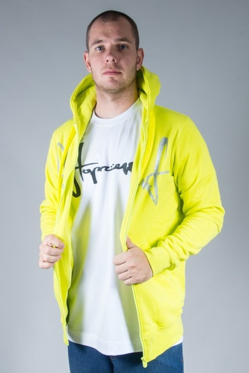 STOPROCENT HOODIE ZIP TAGZIP16 TOXIC YELLOW