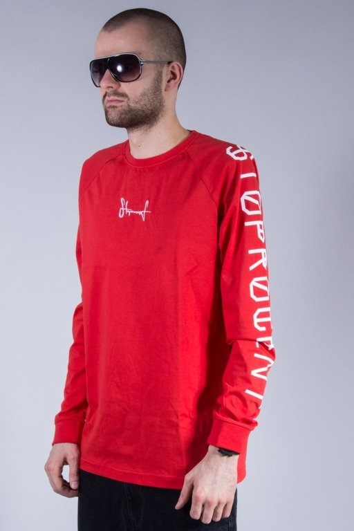 STOPROCENT LONGSLEEVE CROSS RED