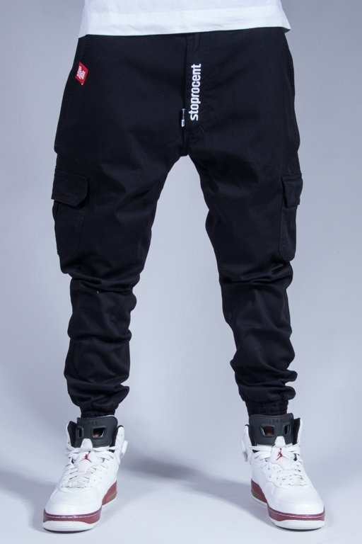 STOPROCENT PANTS CHINO JOGGER ARMY BLACK
