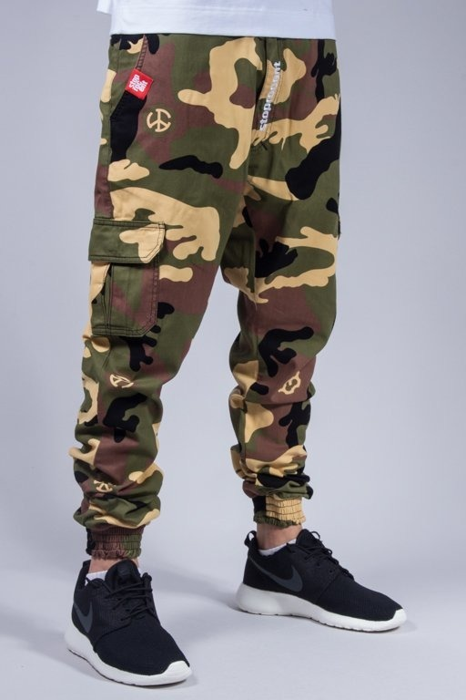 STOPROCENT PANTS CHINO JOGGER ARMY CAMO