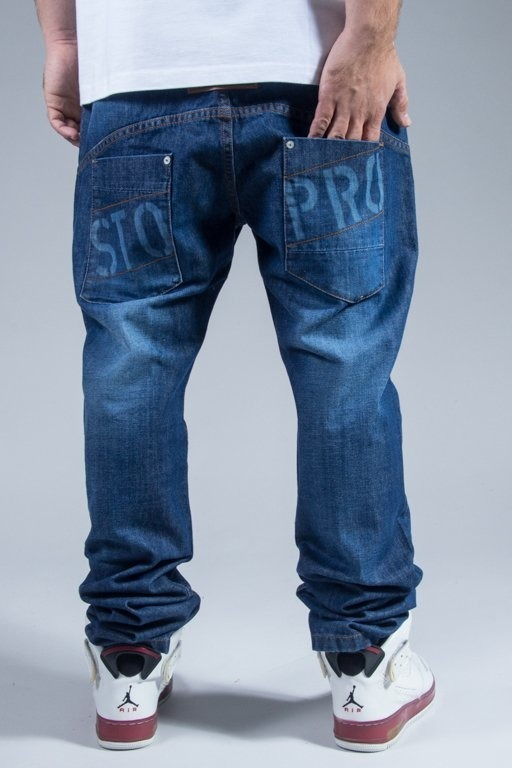 STOPROCENT PANTS JEANS WESTERN BLUE