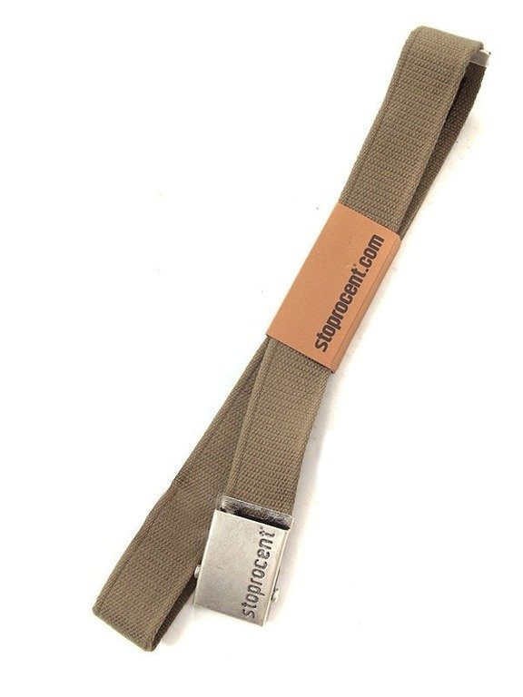 STOPROCENT PASEK PARCIANY CLASSIC SILVER-KHAKI