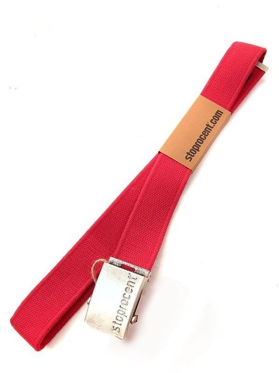 STOPROCENT PASEK PARCIANY CLASSIC SLIVER-RED