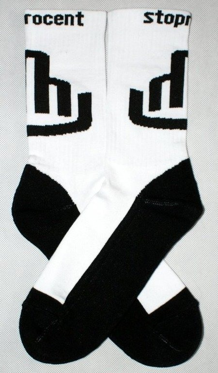 STOPROCENT SKARPETKI SOCKS FUCK WHITE-BLACK