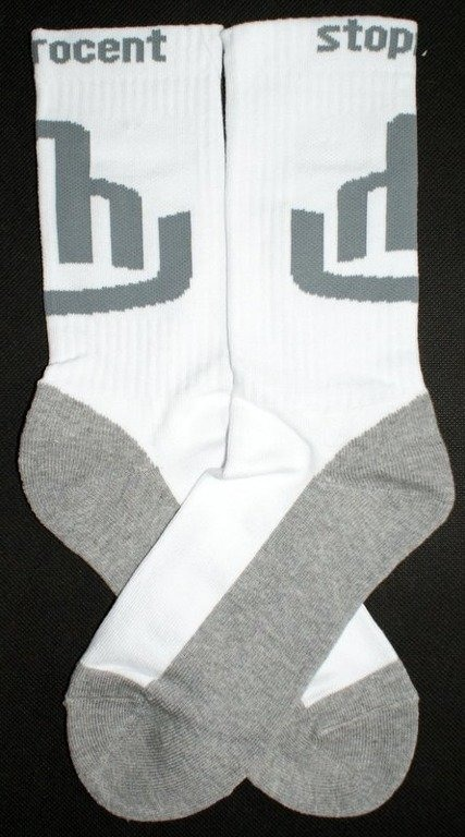 STOPROCENT SKARPETKI SOCKS FUCK WHITE-GREY