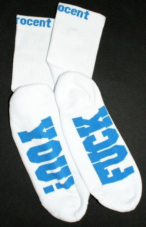 STOPROCENT SKARPETKI SOCKS FY WHITE-BLUE