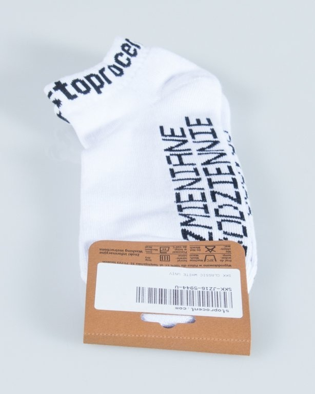 STOPROCENT SOCKS CLASSIC WHITE