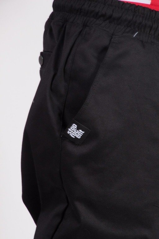 STOPROCENT SPODNIE CHINO JOGGER BLACK