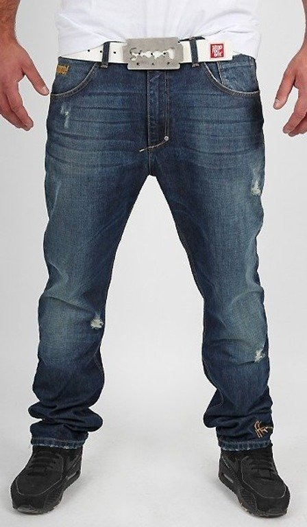 STOPROCENT SPODNIE JEANS HC SLIM REGULAR BLUE
