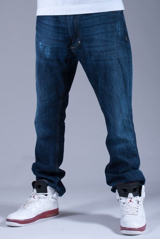 STOPROCENT SPODNIE JEANS POCKET SLIM LOW BLUE