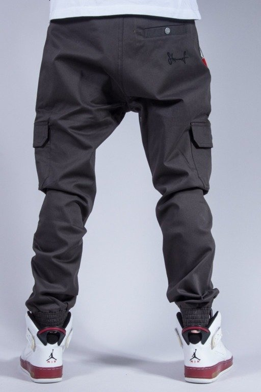 STOPROCENT SPODNIE JOGGER ARMY GREY