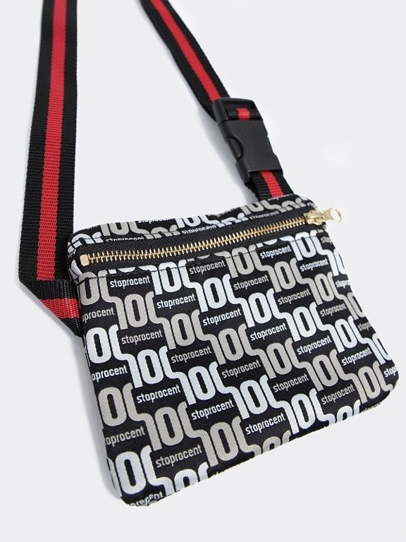 STOPROCENT STREETBAG PATTERN BLACK-GOLD