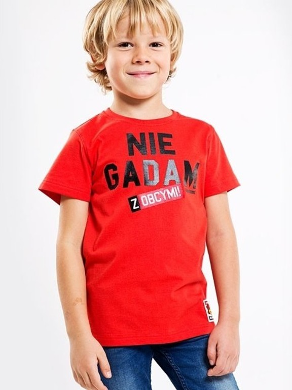 STOPROCENT T-SHIRT KIDS NIE GADAM RED