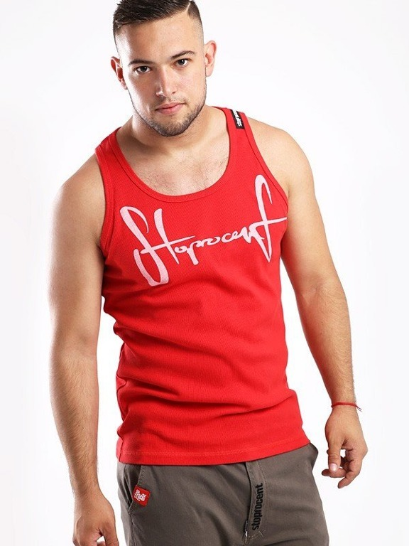 STOPROCENT TANK TOP RIBB TAG 16 RED