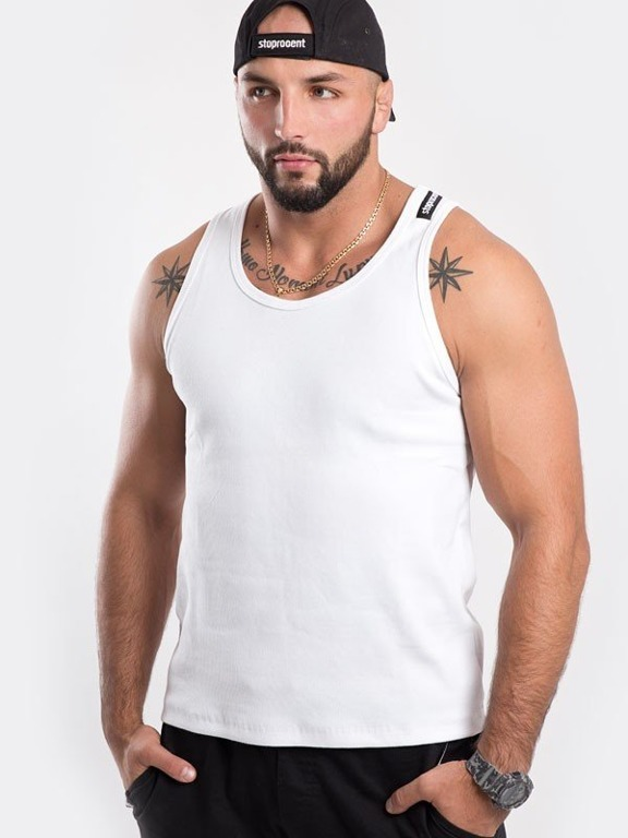 STOPROCENT TANK TOP SHORT CLASSIC16 WHITE