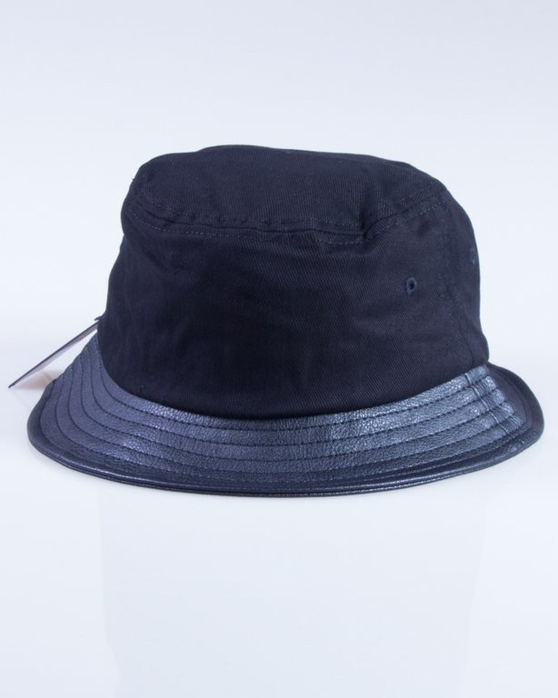 STUSSY KAPELUSZ STOCK LEATHER BRIM BUCKET BLACK