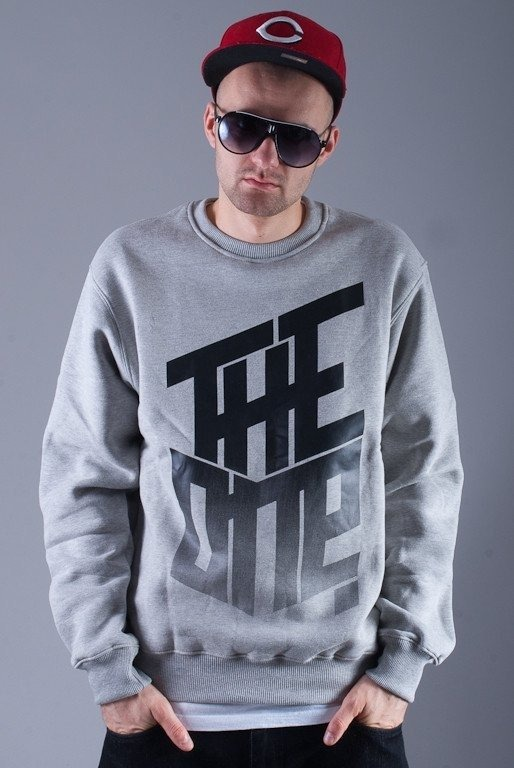 THE ONE BLUZA BEZ KAPTURA GRADIENT GREY
