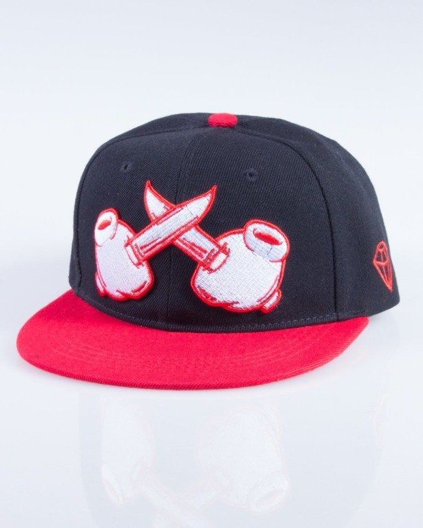 TRUE SPIN CZAPKA SNAPBACK CROSSED BLACK-RED