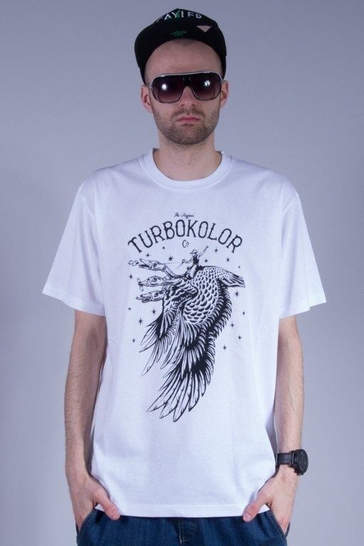 TURBOKOLOR KOSZULKA DRAGON WHITE