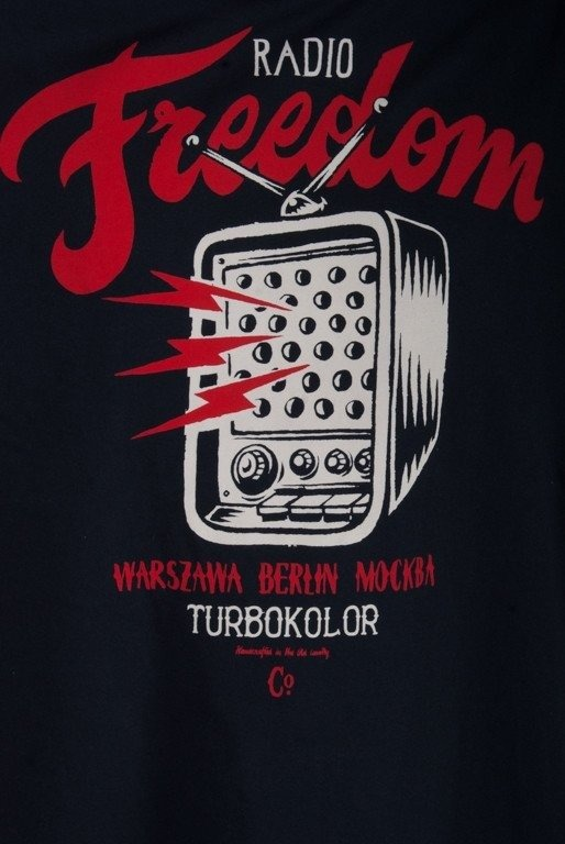 TURBOKOLOR KOSZULKA RADIO BLACK