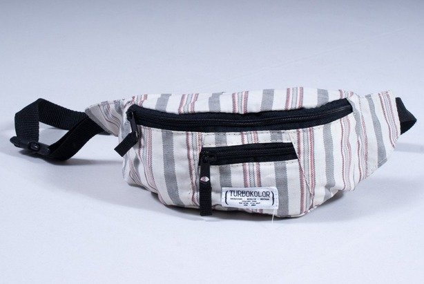 TURBOKOLOR SASZETKA NERKA HIP BAG WHITE-GREY