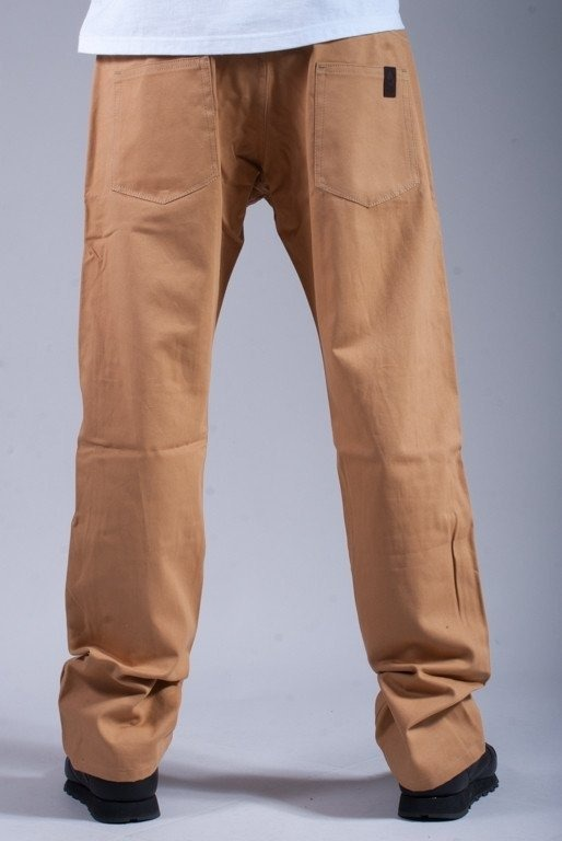 TURBOKOLOR SPODNIE CANVAS PANTS REGULAR FIT KHAKI