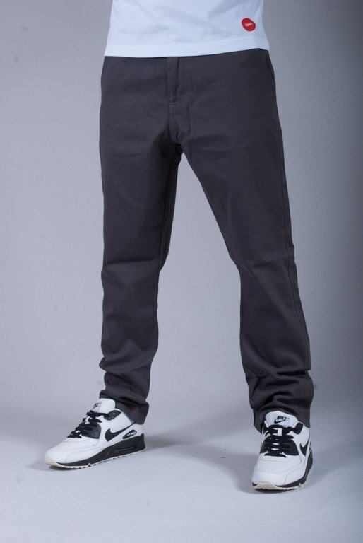 TURBOKOLOR SPODNIE CARROT SLIM FIT GRAPHITE