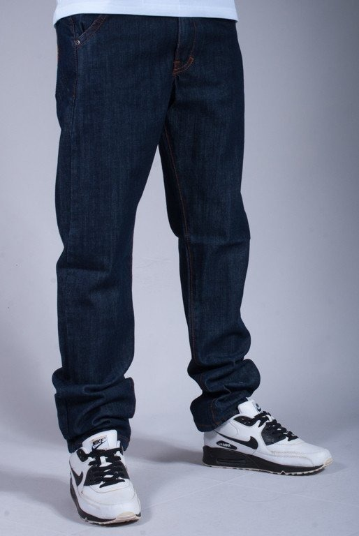 TURBOKOLOR SPODNIE JEANS PRESIDENT SLIM FIT NAVY