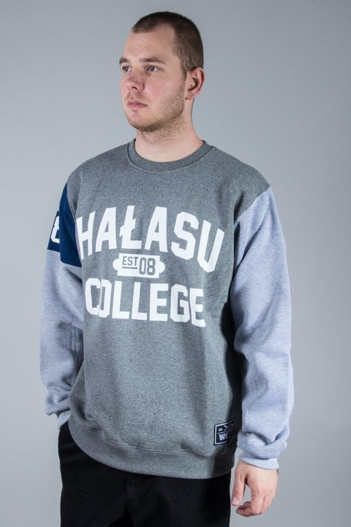 WSRH BLUZA BEZ KAPTURA HAŁASU COLLAGE GREY